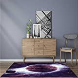 Stain Resistant Rug Abanded Sets of the Movie in Tunisia Desert Phantom Galaxy Wars Themed Keeps Your Rugs Safe and in Place W24 x L35.5 INCH