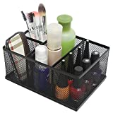 Modern Rectangular Black Metal Mesh 4 Compartment