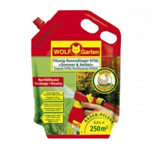 WOLF LV 250 R Flüssig-Rasendünger VITAL »Sommer & Herbst« 2,5 Liter, Volldünger, Langzeitdünger