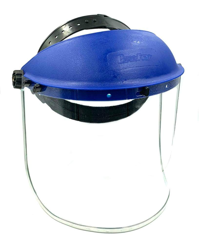 BRUFER 223102 Full Face Shield Mask for Grinding, Construction, General Manufacturing by BRUFER Quality Products