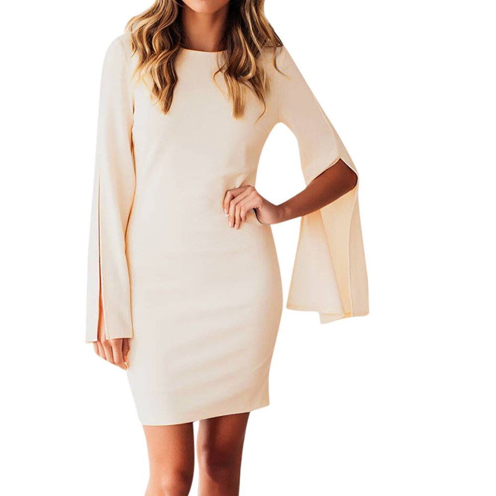 Clearance Women Dresses Solid Holiday Cocktail Evening Mini Dress Beach Sundress for Winter