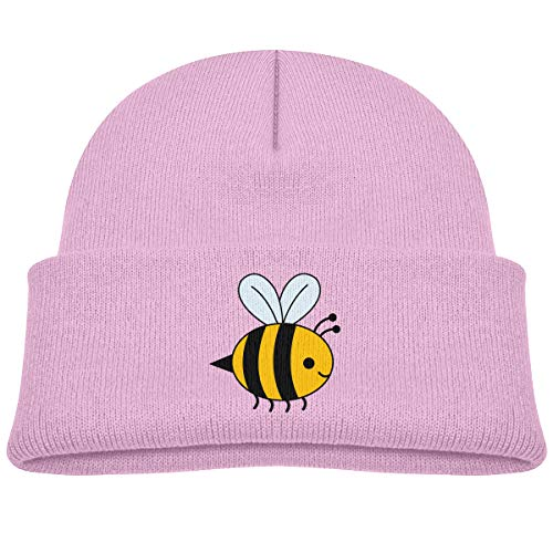 Kids Knitted Beanies Hat Bumblebee Winter Hat Knitted Skull Cap for Boys Girls Pink (Toddler Cap Bee Bumble)