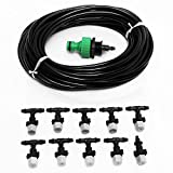 LEEPRA 10m 33ft Gardening Plant Micro Drip Irrigation System Patio Atomization Micro Sprinkler Cooling Kit