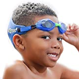 Frogglez Swim Goggles with Patented Painless Strap Technology – No Leak Anti Fog Swimming Goggles with UV Protection