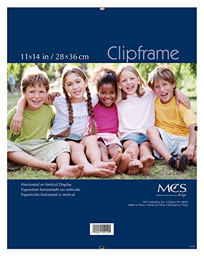 MCS 11x14 Inch Glass Clip Frame (65597) (Mcs Glass Clip Picture Frame)