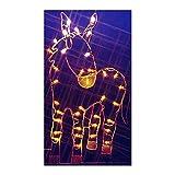 Vickerman 47'' Donkey Nativity Silhouette Lighted Wire Frame Christmas Yard Art Decoration