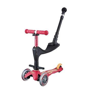 Patinete para Niño Scooter de diseño ajustable con 3 ruedas ...