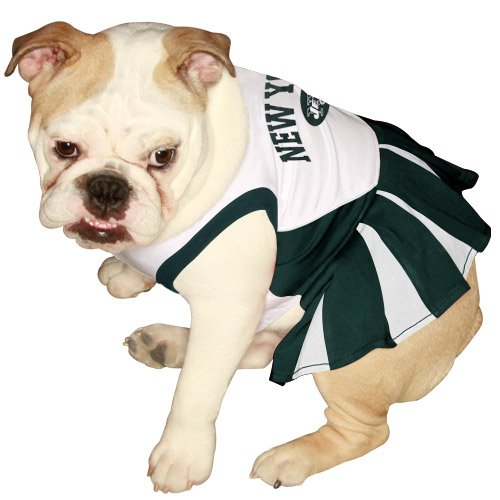 Pets First NFL New York Jets Dog Cheerleader Dress, Small, My Pet Supplies