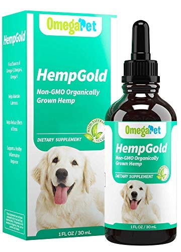 Fur Goodness Sake Hemp Oil for Dogs - Organic Remedy for Dog Anxiety Relief, Cat Calming and Pain Relief - Grown in USA, Third Party Tested (500 mg)