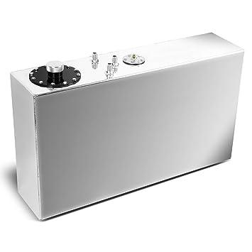 17-Gallon Top-Feed Slim Aluminum Fuel Cell Gas Tank w/Cap