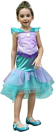 Dressy Daisy Little Mermaid Ariel Costume Outfit Princess Fancy Dress Up for Girl