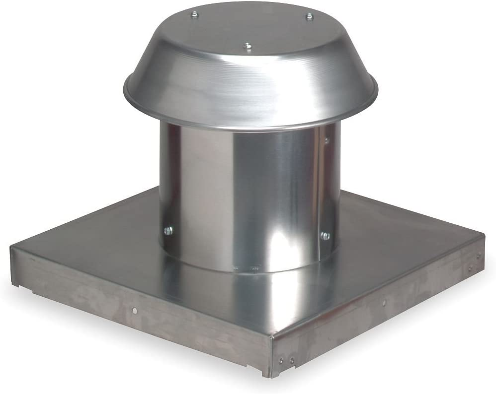 "Broan 611CM Roof Cap For Flat Roof Aluminum Up to 8"" Round Duct"