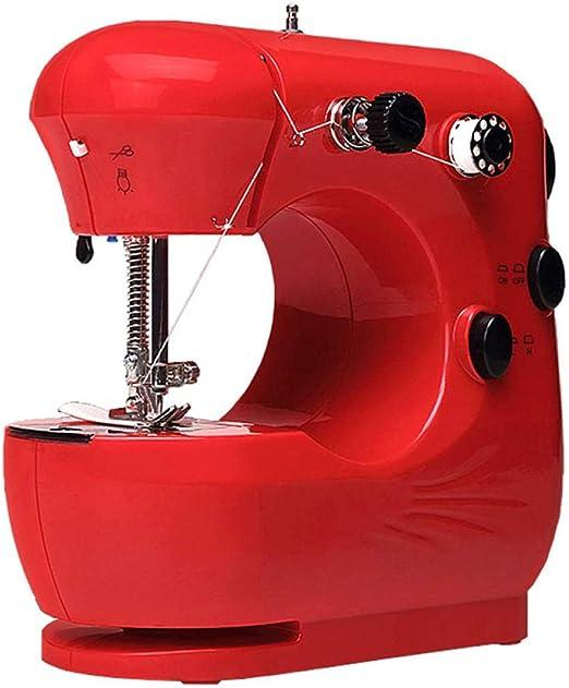 Mini máquina de coser para principiantes, costura de bordado de 2 ...
