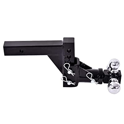 3-Ball Tri Swivel Adjustable Drop Turn Trailer Tow Hitch Mount for 2 Receiver,Size:50.519.623.5cm,: Automotive
