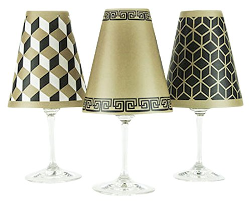 (di Potter WS264 New York Paper Red Wine Glass Shade, Antique Bronze (Pack of 6))