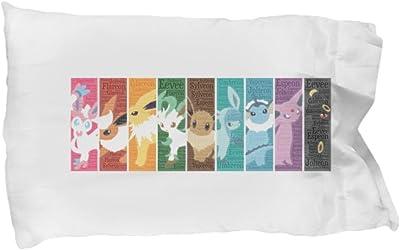 100 Hot Buys EEVEE Pillowcase Evolutions Rainbow Sylveon, Jolteon, Flareon, Espeon, Umbreon Vaporeon, Glaceon