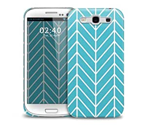 blue lines Samsung Galaxy S3 GS3 protective phone case