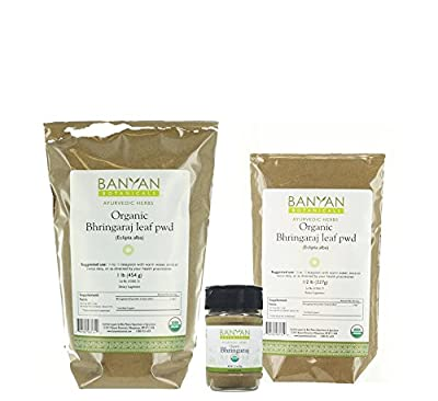 Banyan Botanicals Bhringaraj Powder - Certified Organic, Eclipta alba - The quintessential Ayurvedic herb for the hair and an excellent rejuvenative for pitta*