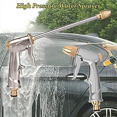 Pistola de pulverización de Manguera de jardín de Agua a Alta presión, Lavado de automóviles y Mascotas/riego de césped y Limpieza de Jardines/ Pistola de pulverización de jardín Larga: Amazon.es: Jardín