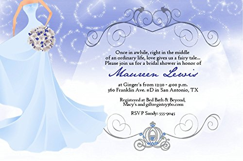 Fairytale Bridal Shower Wedding Invitations Bouquet (Invitations Bridal Bouquet)