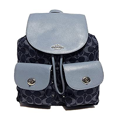Coach F54795 Billie Backpack In Outline Signature Leather Gold/Khaki/Brown 50%OFF