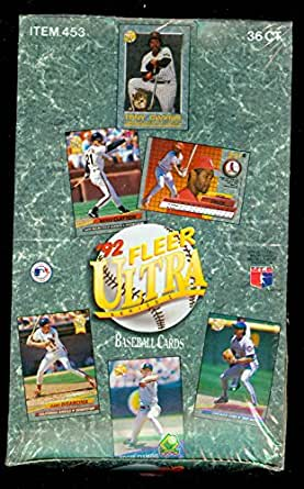 1992 Fleer Ultra Baseball Card Wax Pack Box Series 1 I One