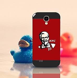 Galaxy S4 Funda Case Brand Logo KFC Solid [Anti-Slip] Customized Impact Resistant Ultra Slim Compatible with Samsung Galaxy S4 i9500