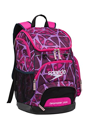 Speedo Large Teamster Backpack, Charged Pink, 35 - Goggle Bag Swim