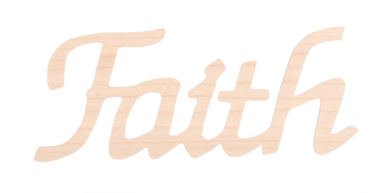 Darice 9110-40 Wood Script Word Faith