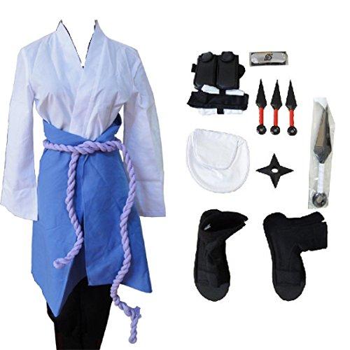 Naruto 3rd Uchiha Sasuke cosplay costume whole set