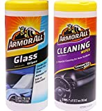 Armor All Multipurpose Cleaning Wipes Plus Glass Wipes, 25 Count (2 Count)