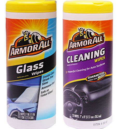 Price comparison product image Armor All Multipurpose Cleaning Wipes Plus Glass Wipes,  25 Count (2 Count)