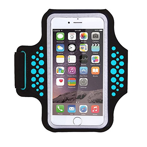Triomph Armband for iPhone X, iPhone 8 Plus, 7 Plus, 6 Plus, 6s Plus, 6s iPod Galaxy S6, S6 Edge, S7 Edge Plus with Key Cards Money Holder, for Running, Sports, Jogging, Hiking, Biking (Blue 5.8'') (Best Iphone 7 Armband)