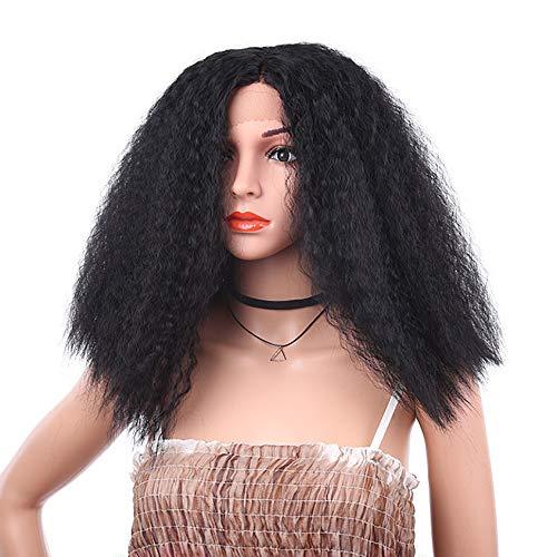 IKVRU Fluffy Wigs,Cute Womens/Girls Dark Black Long Bangs Fluffy Healthy Curly Full Wig 16