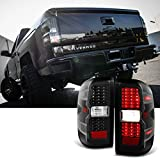 For 2014 2015-2018 Chevy Silverado   GMC Sierra LH & RH Black Replacement LED Tail Lights Tail Lamps Pair Set