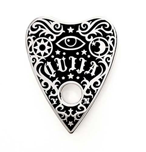 Pinsanity Ouija Planchette Enamel Lapel Pin]()
