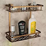 IDEAS HOME - Aluminum Brass Multifunctional Antique Bathroom Organizer...