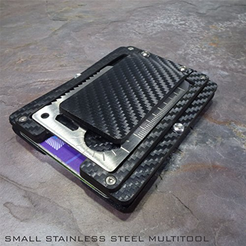Sale - MultiWallet. Holstex Tactical Wallet Carbon Fiber Texture. Multi tool and money clip.