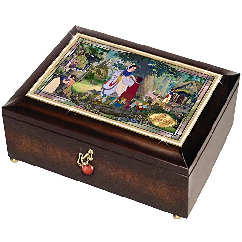 Disney Snow White Illuminated Music Box - 80th Anniversary Mahagony Finish