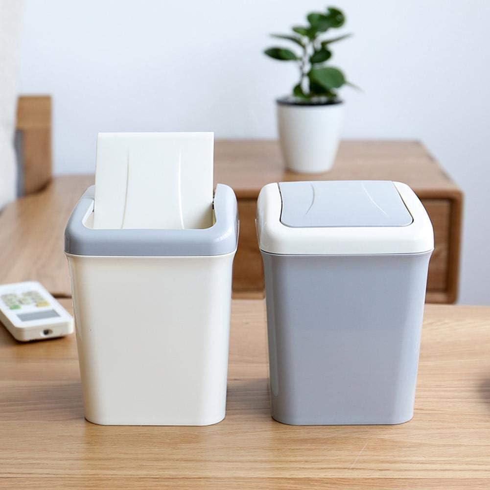 Mini cestino per rifiuti in plastica da appoggio per rifiuti con pattumiera