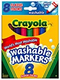Crayola Washable Markers, Broad Point, Classic
