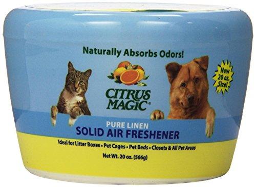 Area Linens (Citrus Magic Pet Odor Absorbing Solid Air Freshener Pure Linen, 20-Ounce)