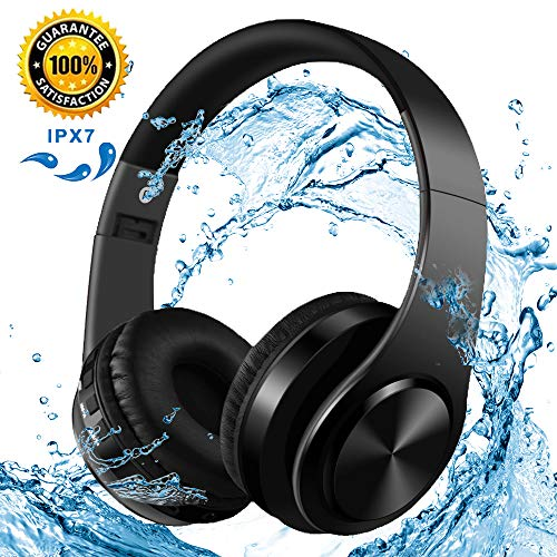 Bluetooth Headphones Noise Cancelling Headphones HD Stereo Wireless Headset, w/Built-in Mic Wireless Mode, Comfortable Protein Earpads, headset Wireless and Wire Mode for Travel/Work/Driving, Black