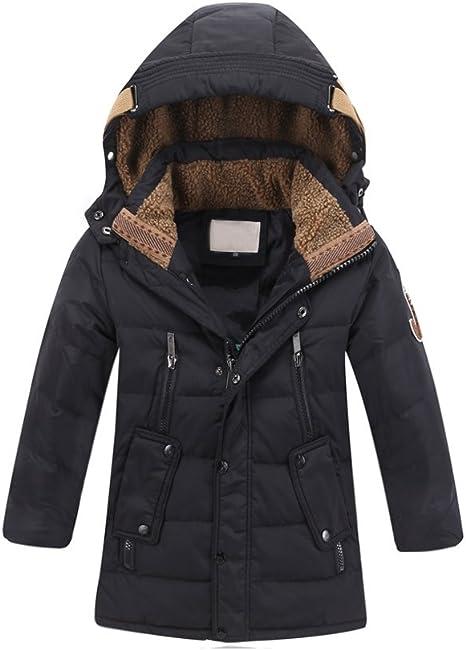 Phorecys Fille Doudoune Mi-Long Manteau Chaud avec Capuche Automne Et Hiver Fermeture Eclair