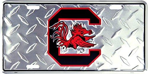 South Carolina Gamecocks Metal Diamond License Plate - 6