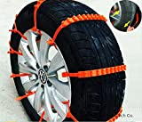 2nd Generation Super Easy Universal Fit Emergency Anti-Skid Car Cable Tire Mud Snow Chains for SUV Car Van ATV Jeep Honda Toyota Nissan VW Ford Mercede Benz BMW HTATMT Jeep Tyre Winter Traction Aid