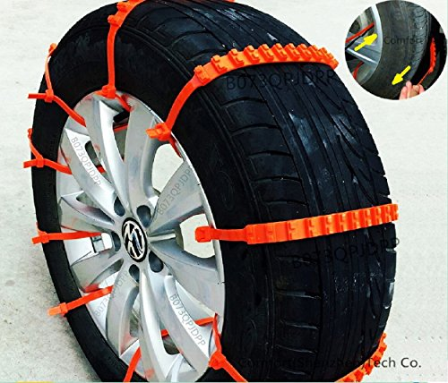 Car Atv (2nd Generation Super Easy Universal Fit Emergency Anti-Skid Car Cable Tire Mud Snow Chains for SUV Car Van ATV Jeep Honda Toyota Nissan VW Ford Mercede Benz BMW HTATMT Jeep Tyre Winter Traction Aid)