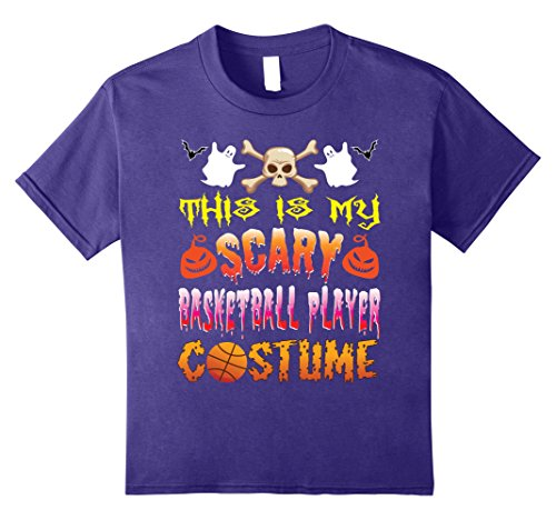 Kids This Is My Scary Basketball Player Costume Halloween TShirt 12 (Basketball Player Costume Halloween)