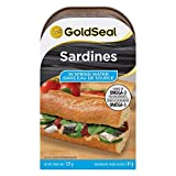 Gold Seal Sardines in Spring Water - 125 Gram - 12-Pack - Natural Source of Omega-3 - High in Protein - Excellent Source of Vitamin D and Calcium