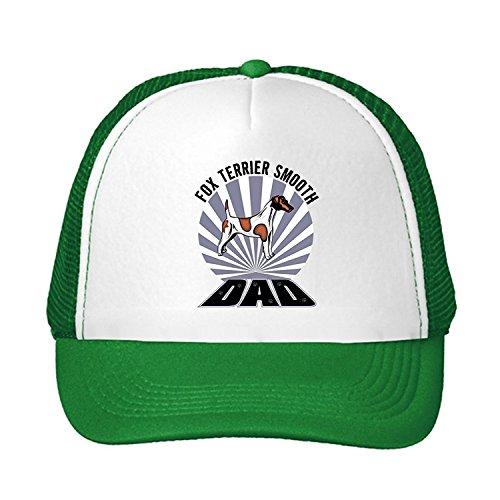 Kerr Juliet Fox Terrier Smooth Dog Dad Adjustable Trucker Hat (Smooth Fox Terrier Embroidery)